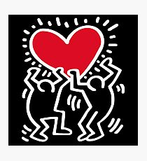 Keith Haring Love Photographic Print