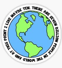 Seven Billion Sticker