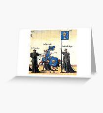 Galice representation in Charles V illustration Greeting Card