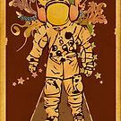 Vintage Spaceman by Hutzon