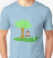 Caty and the Cat play in the swing T-Shirt