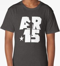 AR-15 (White) Long T-Shirt