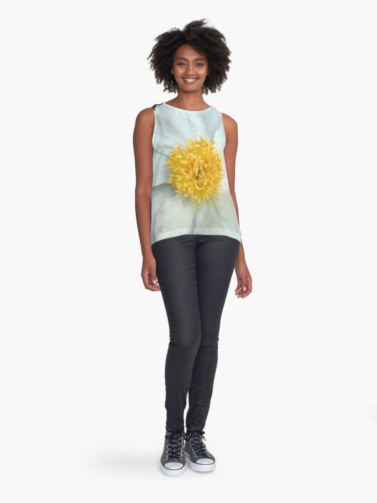 Alternate view of Floral Gift - Chinese Peony Photography  Sleeveless Top