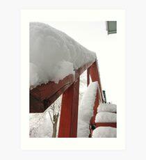 Snowy Steps Art Print