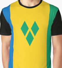 Flag of Saint Vincent and the Grenadines Graphic T-Shirt