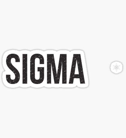 geo negro (¡ajuste de tamaño!) - sigma Pegatina