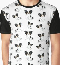 Papillons Everywhere - Tricolor Graphic T-Shirt