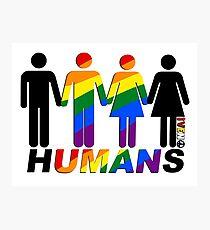 LGBQT HUMANS Photographic Print