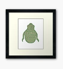 Ghostbusters Shirt - Slimer Tee Shirt, Phone/tablet case and more - Cool Ghostbusters art  Framed Print