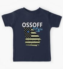 Ossoff Flag and District flip the 6th Kids Tee