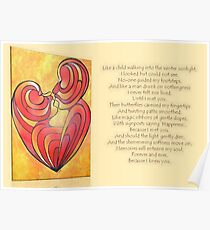 """Signposts Saying """"Happiness"""" Greeting Card Poster"""