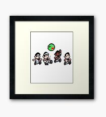 Cool 8bit Ghostbusters Design - for tees, tablet skins, wal art and more! Framed Print