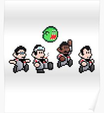 Cool 8bit Ghostbusters Design - for tees, tablet skins, wal art and more! Poster