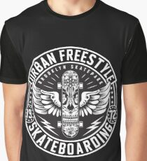 Urban Freestyle Skateboarding Graphic T-Shirt