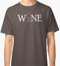 Cute WINE Graphic for Vino Lovers Classic T-Shirt