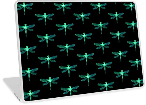 'Green Dragonfly' Laptop Skin