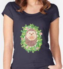 Camiseta entallada de cuello ancho Erizo en cloverfield