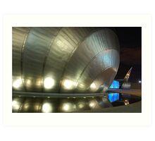 Spaceship Carpark Art Print