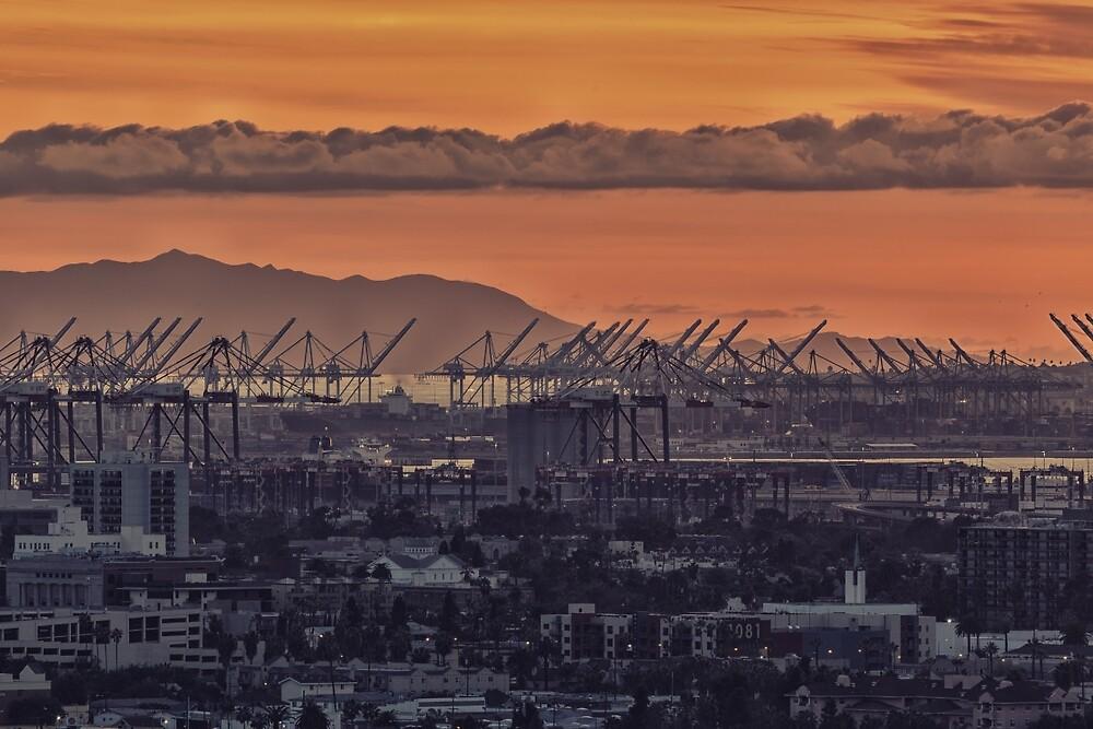 Cranes in Long Beach 2 by Nadim Baki