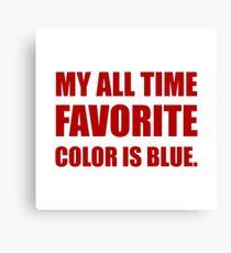 Favorite Color Blue Red Canvas Print