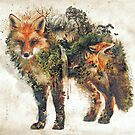 The Fox my original surreal nature art by barrettbiggers