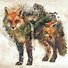 «El Fox mi arte surrealista original de la naturaleza» de barrettbiggers