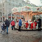 Roundabout at Christmas at Gustav Adolfs torg by frommyhorizon