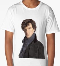 Low Poly Sherlock Long T-Shirt