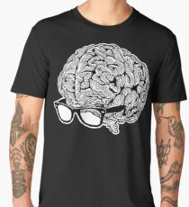 Brain with Glasses Men's Premium T-Shirt