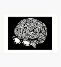 Brain with Glasses Art Print