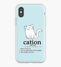 Cat-ion science puns iPhone Case