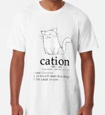 Camiseta larga Cat-ion science puns
