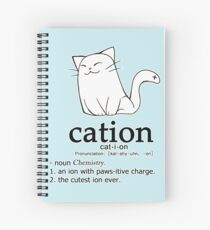 Cuaderno de espiral Cat-ion science puns