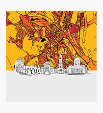 Chisinau, Moldova, Skyline Map Photographic Print