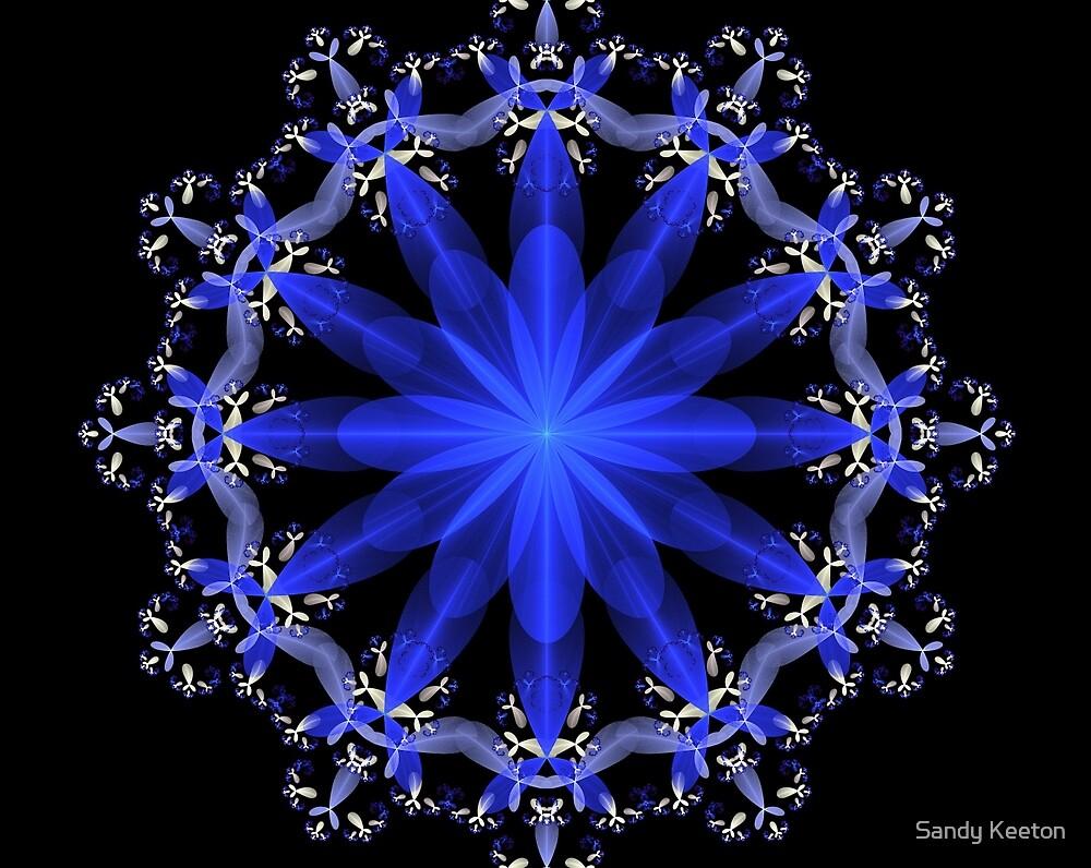 Blue Ornament by Sandy Keeton