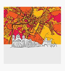 Podgorica, Montenegro, Skyline Map Photographic Print