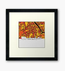 Warsaw, Poland, Skyline Map Framed Print