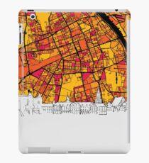 Warsaw, Poland, Skyline Map iPad Case/Skin