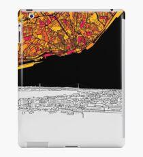 Lisbon, Portugal, Skyline Map iPad Case/Skin