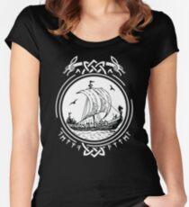 Wikingerschiff Boot Runen / Wikinger / Vikings / Women's Fitted Scoop T-Shirt