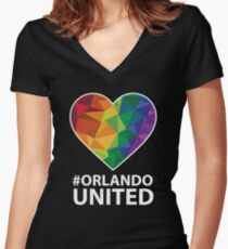 Orlando United T-Shirt - Pray For Orlando Women's Fitted V-Neck T-Shirt