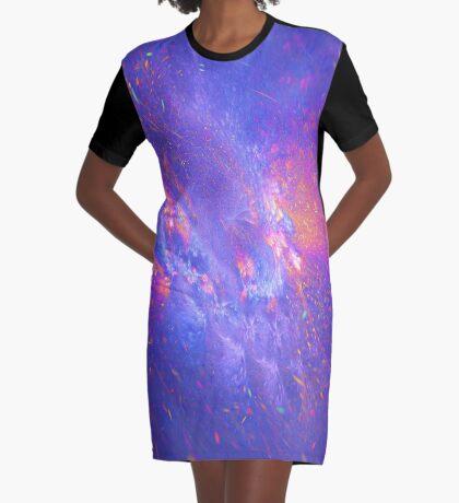 Galactic fractals Graphic T-Shirt Dress