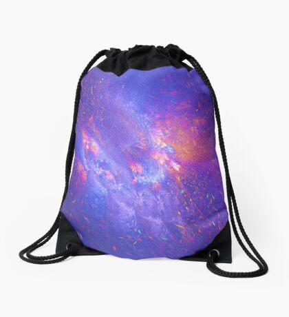 Galactic fractals Drawstring Bag