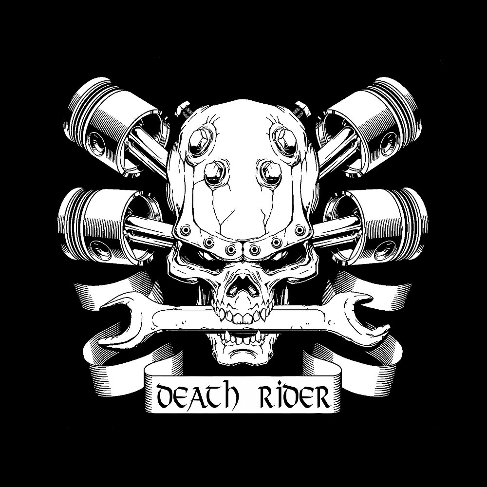 Death Rider Skull with Motorcycle Engine by AmorOmniaVincit