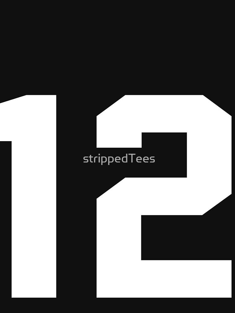 Team Jersey 12 T-shirt / Football, Soccer, Baseball by strippedTees