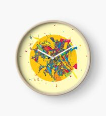 Chisinau, Moldova, Colorful Artmap Clock
