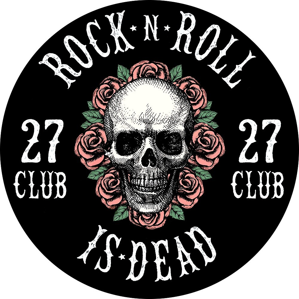 Rock is Dead, Human Skull with Roses Design by AmorOmniaVincit