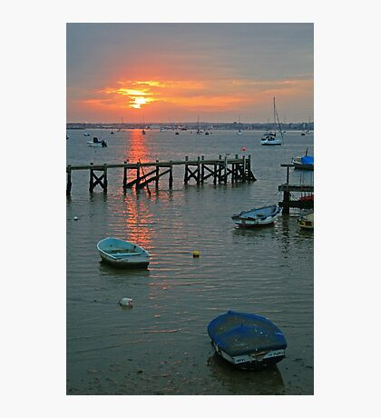 Sunset at Sandbanks Photographic Print