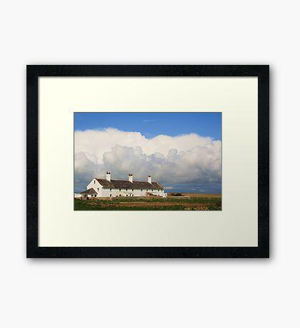 Coastguard Cottages Framed Print