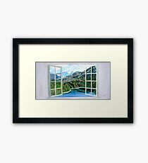 Mountain and Lake Framed Print